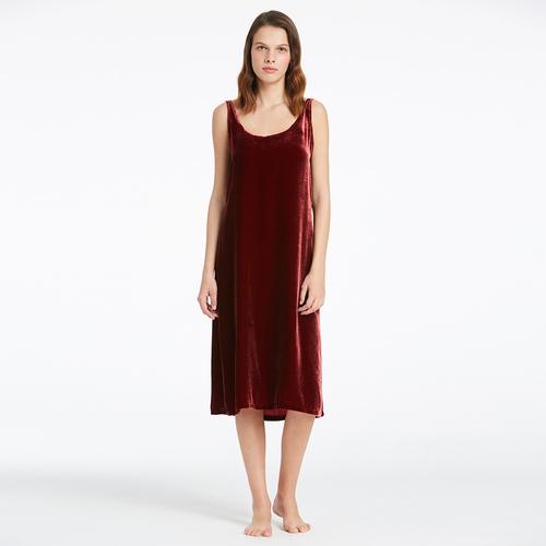 Lilysilk Full Length Scoop Velvet Nightdress