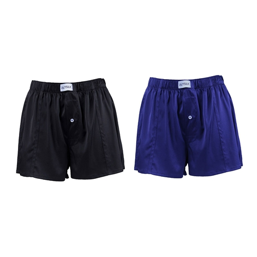 Luxury Fitted Draping Silk Boxer For Men 2 Pack