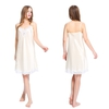 Beige Women Silk Nightgown
