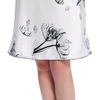 Lotus White Women Silk Nightgown