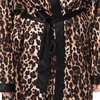 Leopard Plus Size Silk Robe
