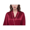Claret Women Silk Dressing Gown