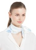 Aqua Floral Silk Accessories