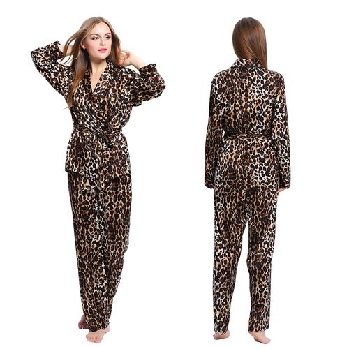 Leopard women silk pajamas