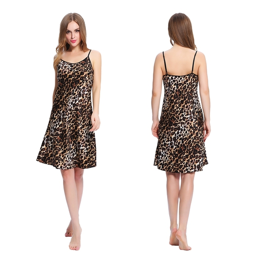 Leopard Women Silk Nightgown