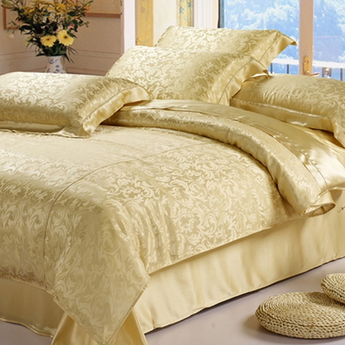 Gold Silk Bedding