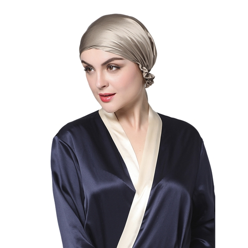 Silk Night Bonnet with Ribbons