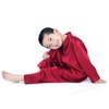 Claret Boys Silk Pyjamas
