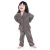 Dark Gray Girls Silk Pajamas