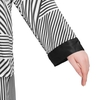 Black & White Stripe women silk pajamas