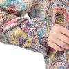Floral Printing Yellow & Green Plus Size Silk Pajamas
