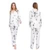 Lotus White women silk pajamas