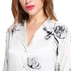 Lotus White Women Silk Pajama