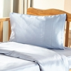 Light Blue Silk Travel Pillowcase