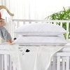 White Silk Crib Lined Pillow