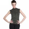 Black with White Dots  Silk T-Shirt