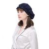 Navy Blue Silk Sleeping Cap