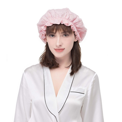 Soft Silk Night Sleep Cap With Lace