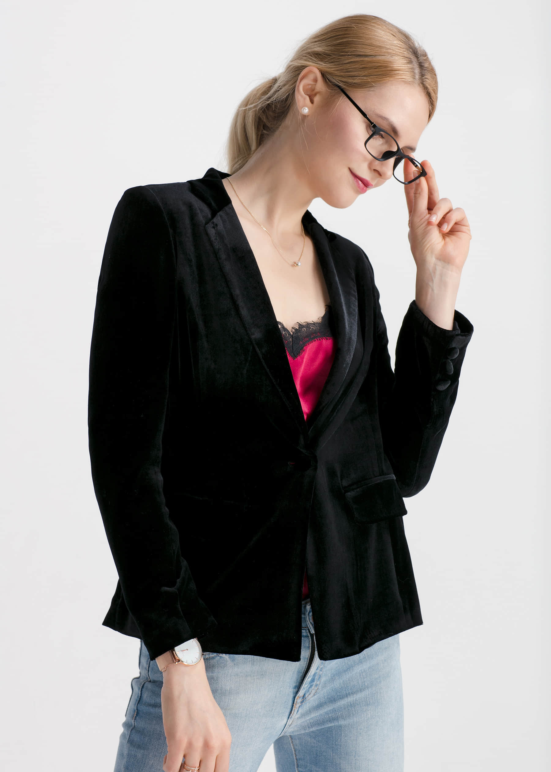 Waist Flattering Silk Velvet Blazer Hot Sale From Lilysilk