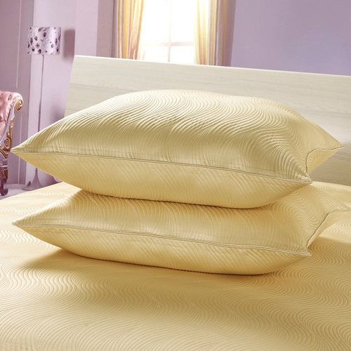 Soft Yellow  Silk Cushion