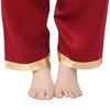 Rotwein Seide Pyjamas