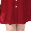Rotwein Seide Nachthemd