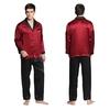 Rotwein Herren Seide Pyjamas