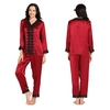 Rotwein Damen Seide Pyjamas