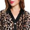 Leopard Damen Seide Pyjamas