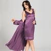 Violett Damen Seide Nachthemd
