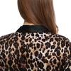 Leopard Damen Seide Morgenmantel