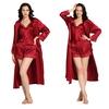 Violetto Rosso Set vestaglia di seta