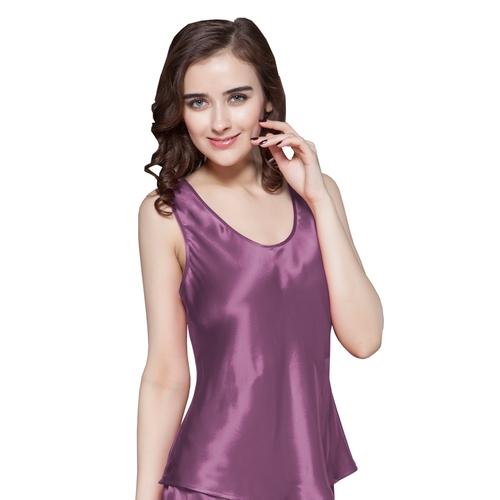 Violet Haut de Pyjama Soie