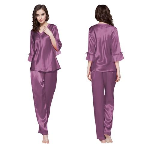 Violet Pyjama Femme Soie