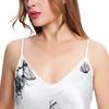 Loto Bianco Camicia da notte di seta donna
