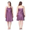 Violet Chemise de Nuit Soie Grande Taille Femme