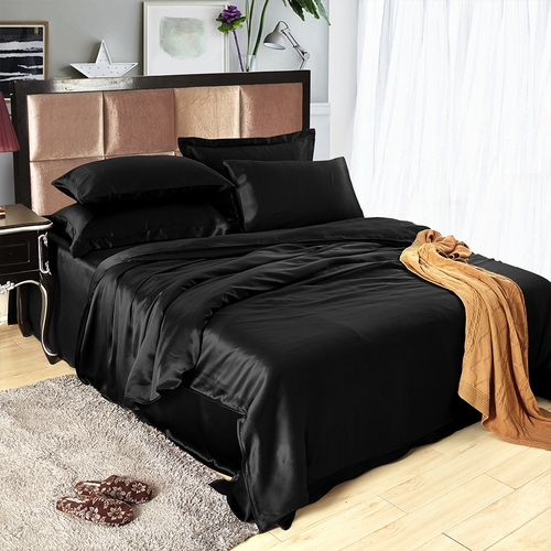 parure de lit de luxe en soie 25 momme sans couture. Black Bedroom Furniture Sets. Home Design Ideas