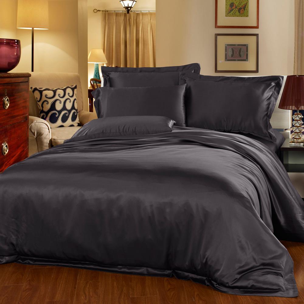 parure de lit en soie 22 momme sans couture. Black Bedroom Furniture Sets. Home Design Ideas