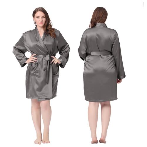peignoir femme court en soie 22 momme manches longues. Black Bedroom Furniture Sets. Home Design Ideas