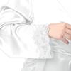 Blanc Robe de Chambre Soie Grande Taille Femme