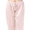 Rose Clair Pyjama Soie Grande Taille Femme