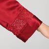 Rouge Vineux Robe de Chambre Femme Soie