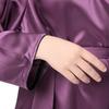 Violet Robe de Chambre Soie Grande Taille Femme
