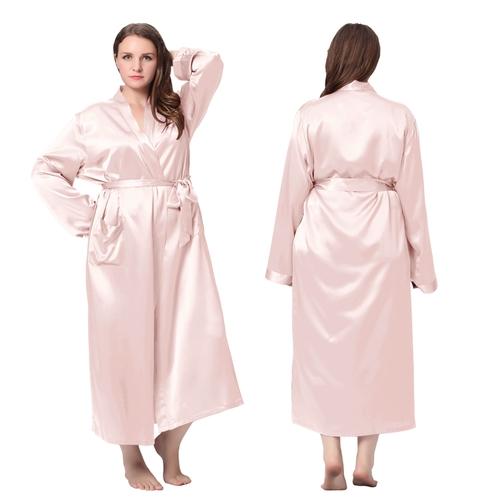 robe de chambre femme longue en soie 22 momme grande taille lilysilk. Black Bedroom Furniture Sets. Home Design Ideas