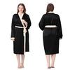 Noir Robe de Chambre Soie Grande Taille Femme