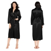Noir Robe de Chambre Femme Soie