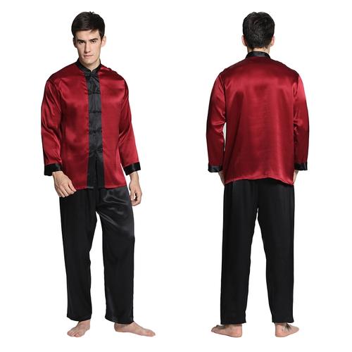 Set pigiama di 22 momme seta esotica da uomo